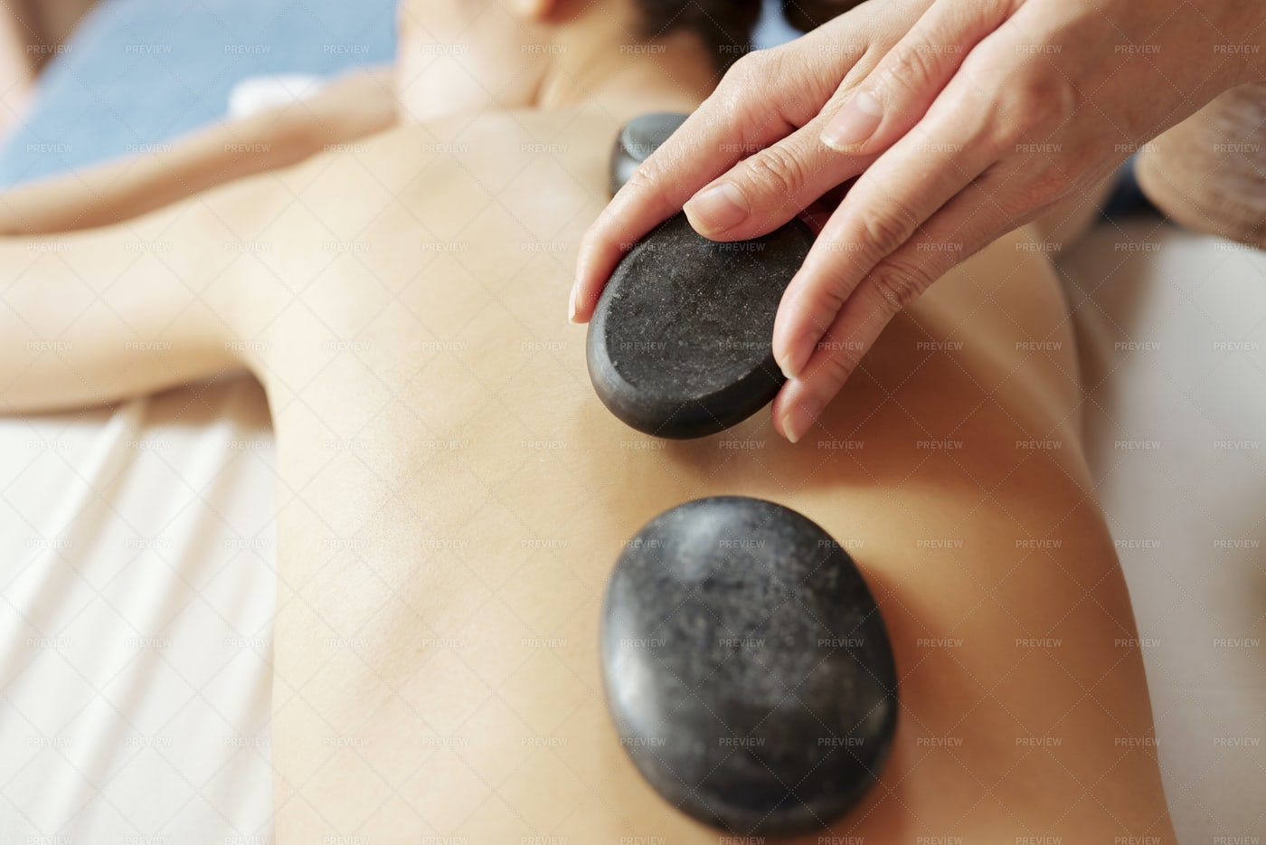 Hot Stone Massage: Stock Photos