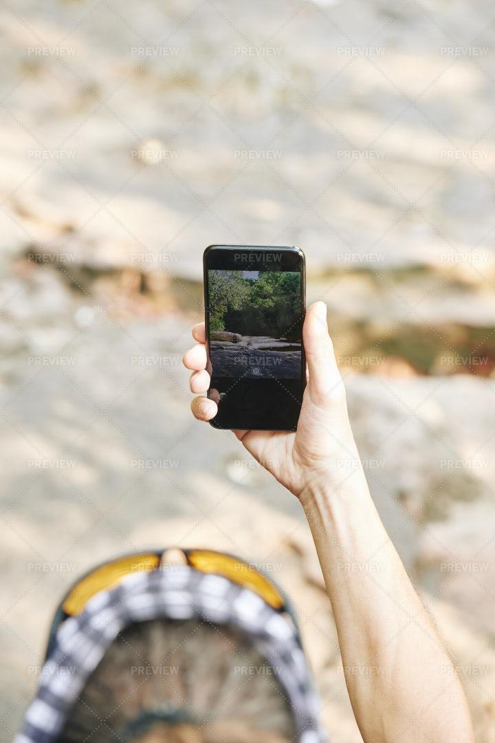 Tourist Photographing Nature: Stock Photos