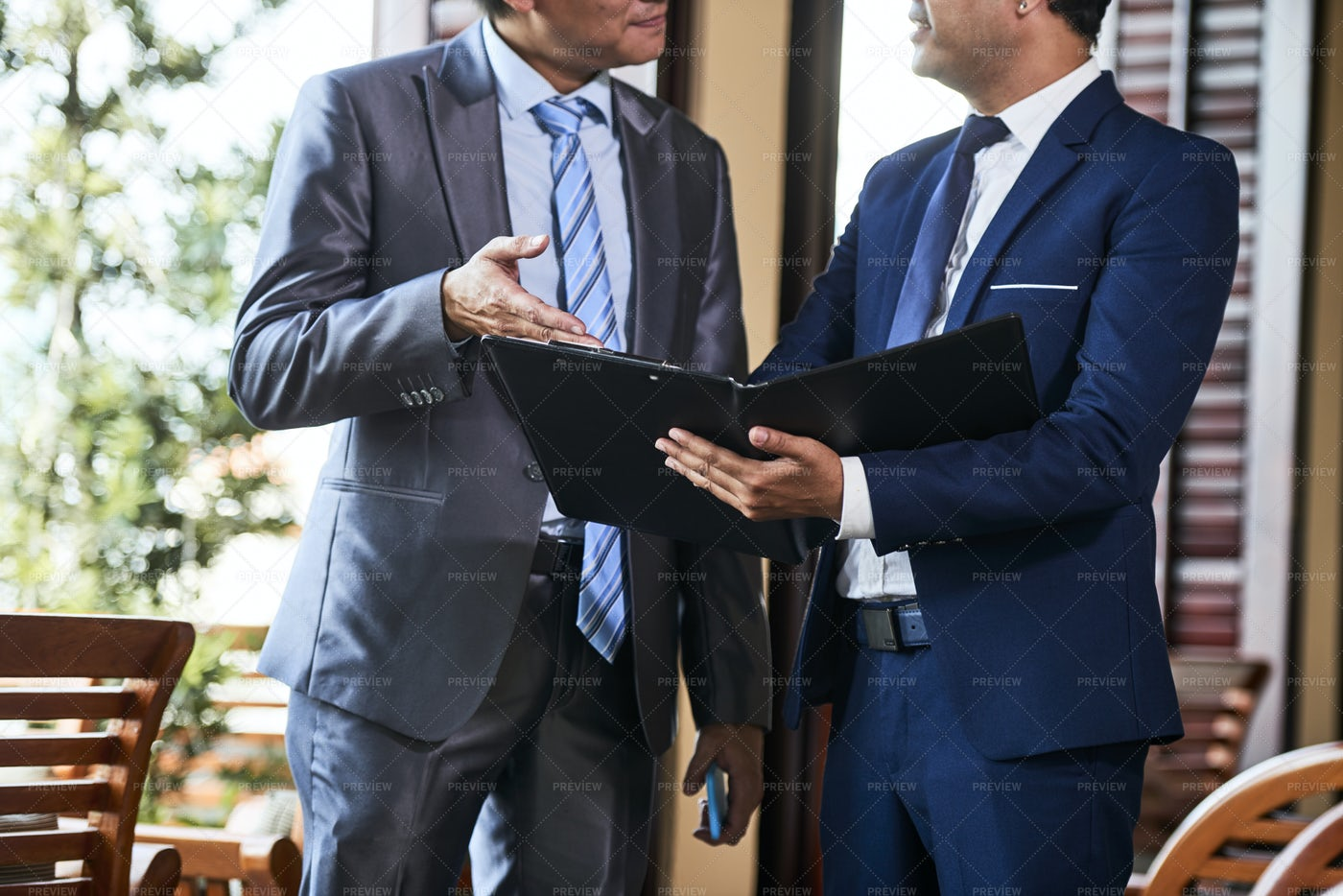 Business People With Business Project: Stock Photos