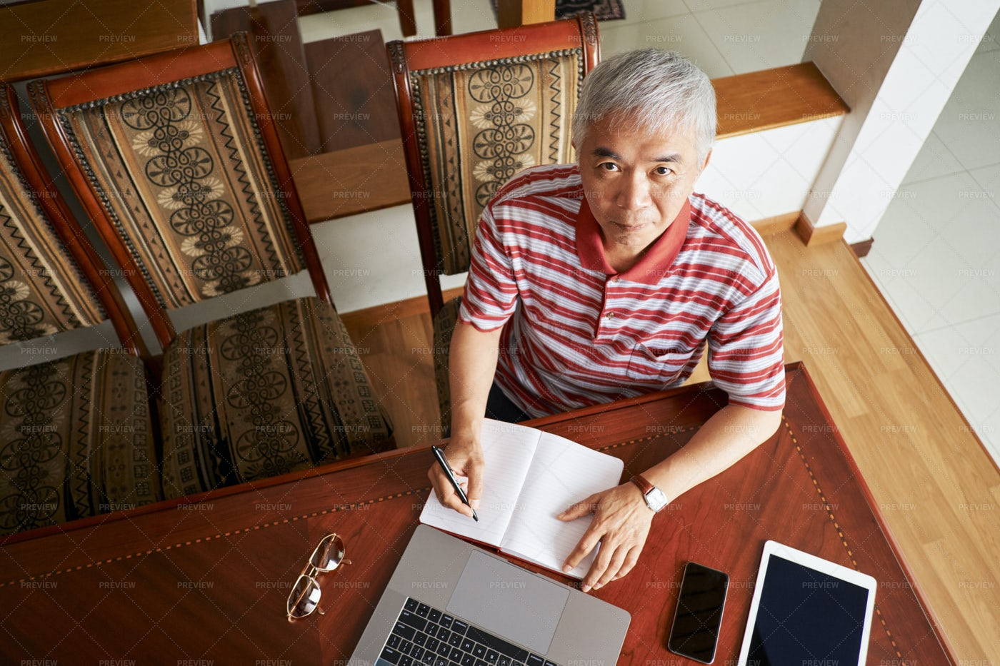 Businessman Working At Home: Stock Photos