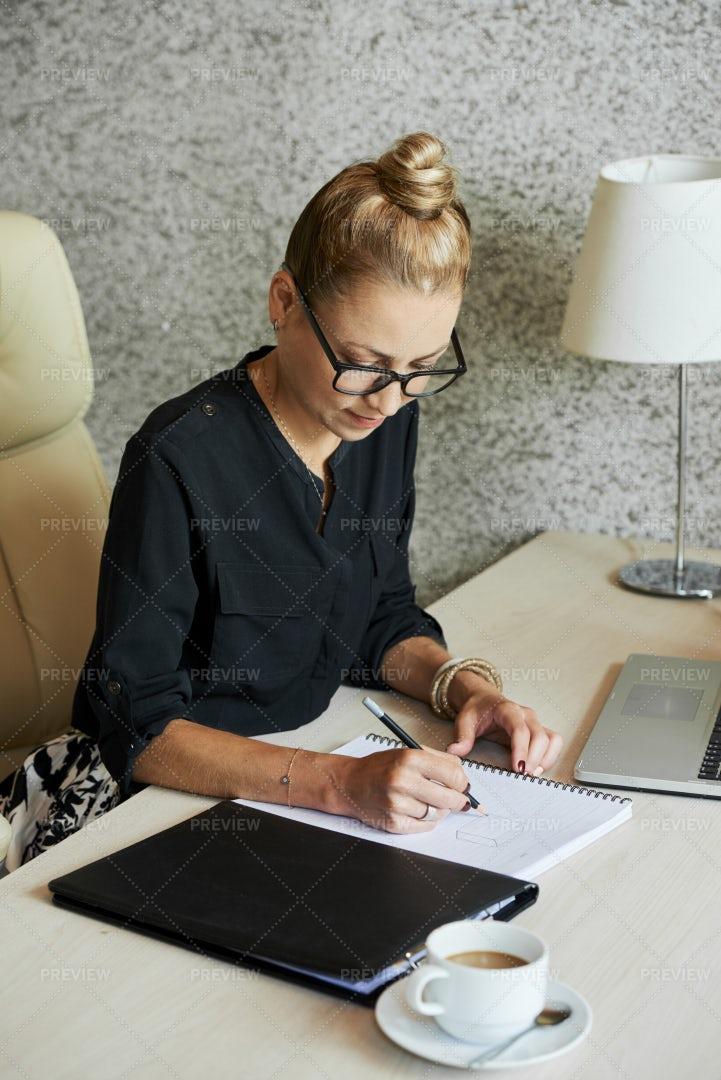 Creative Designer Making Sketch: Stock Photos