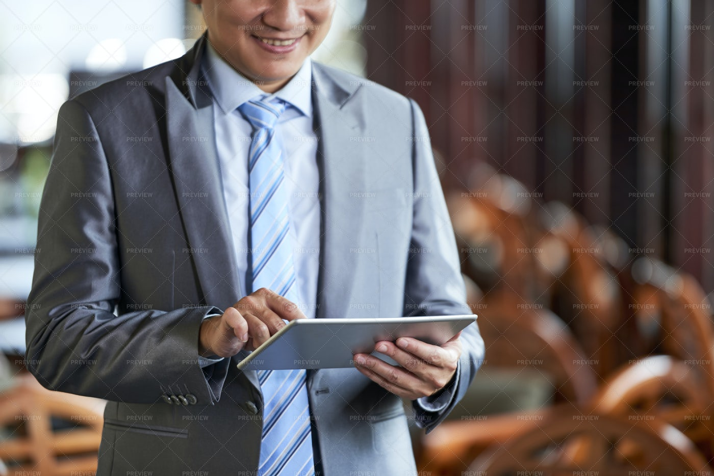 Businessman With Tablet Pc: Stock Photos