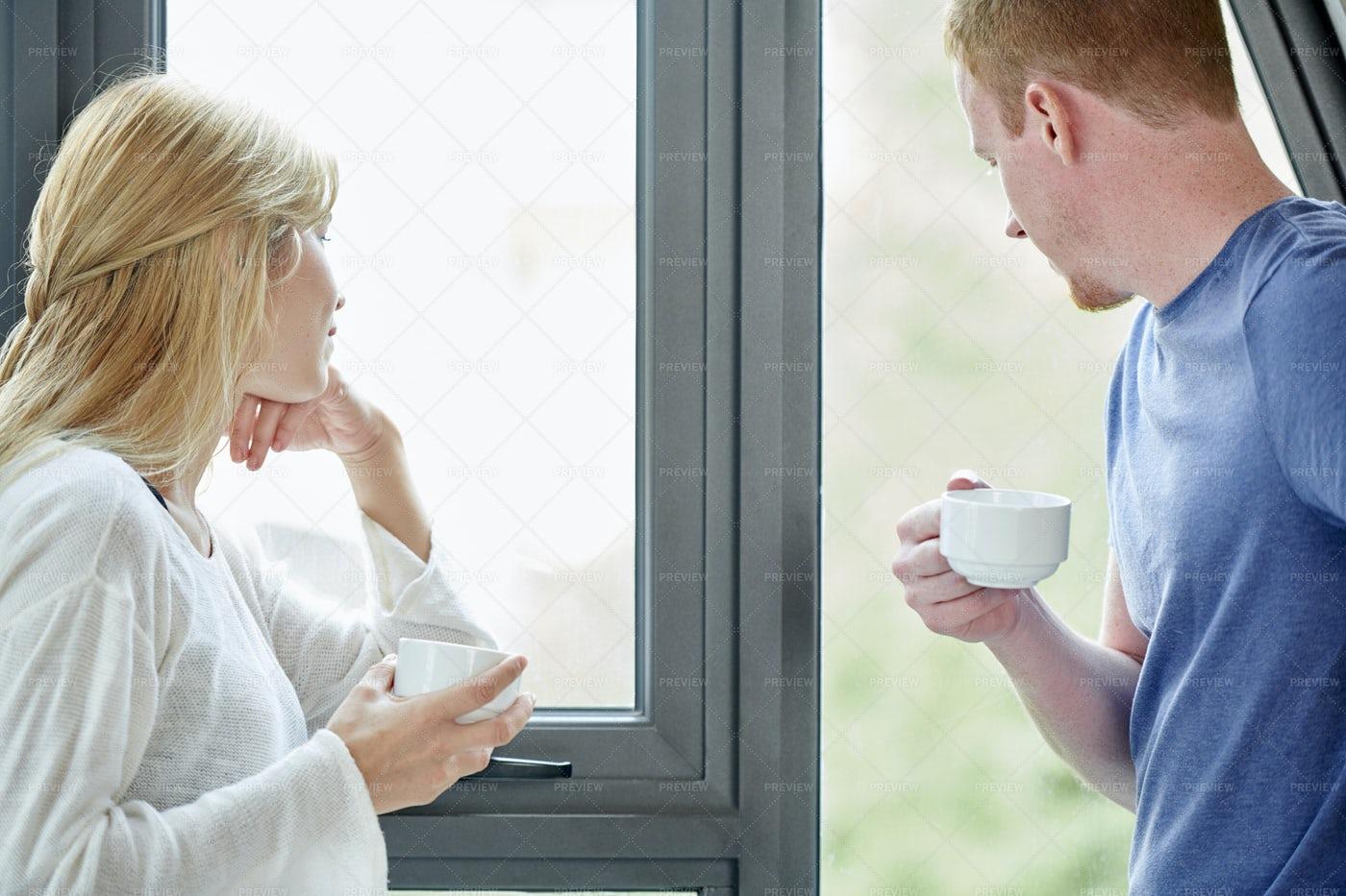 Couple Drinking Coffee: Stock Photos