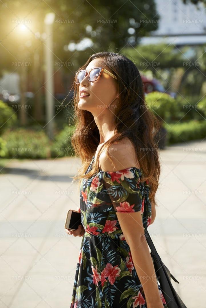 Young Woman Enjoying Summer Day: Stock Photos
