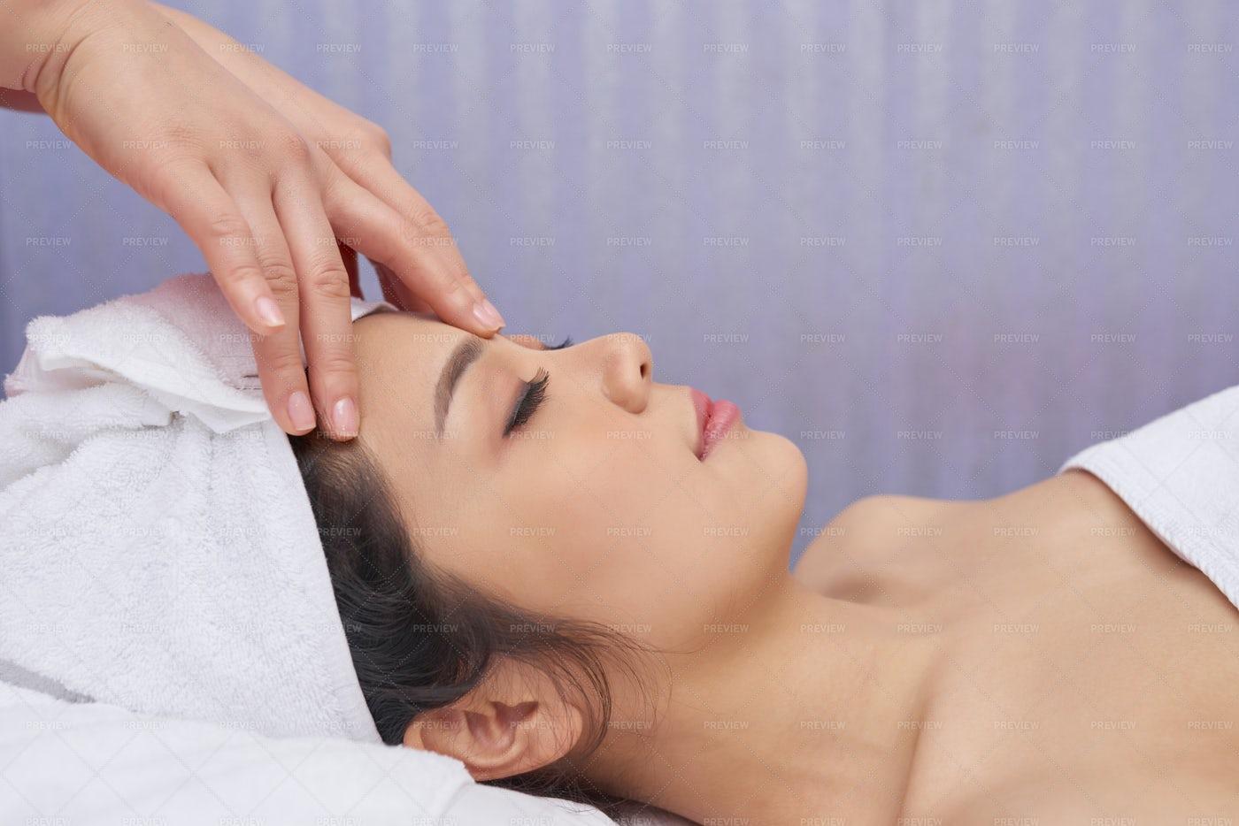 Woman Relaxing At Spa Procedure: Stock Photos