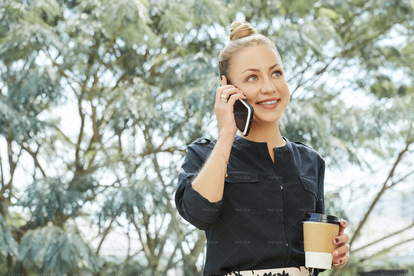 Businesswoman Talking On Phone: Stock Photos