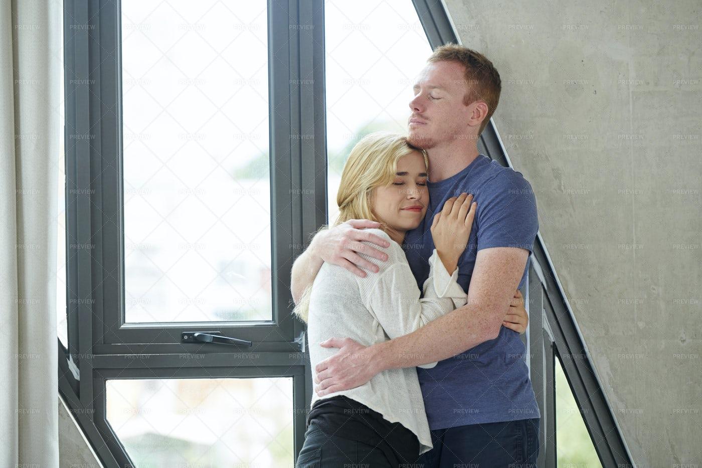 Embracing Young Couple: Stock Photos