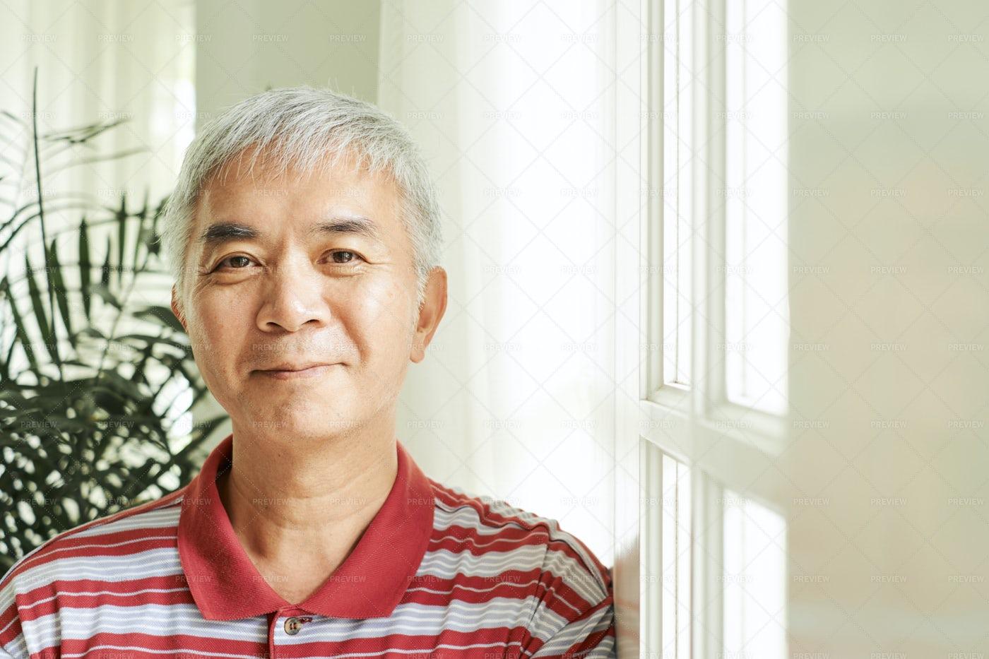 Positive Asian Man: Stock Photos
