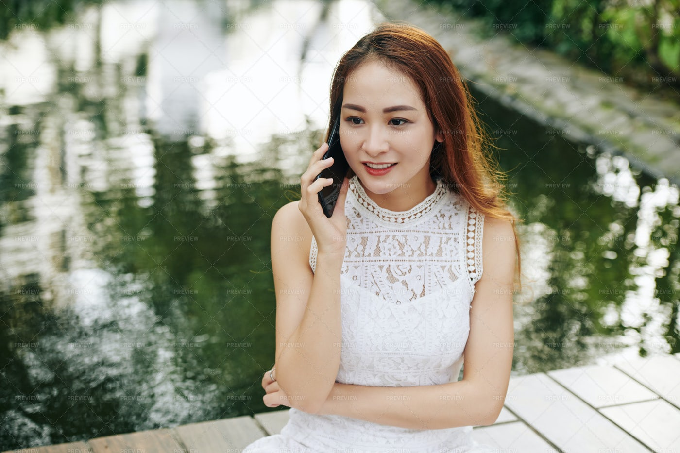 Young Woman Talking On Phone: Stock Photos