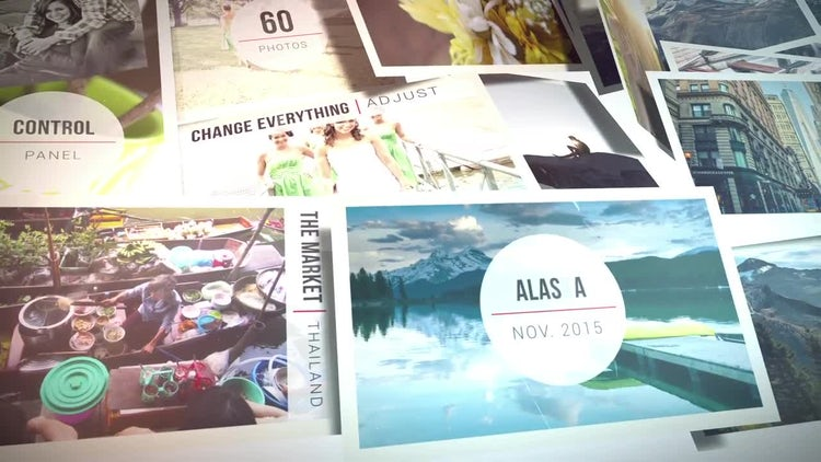 Scattered Pictures Slideshow: After Effects Templates