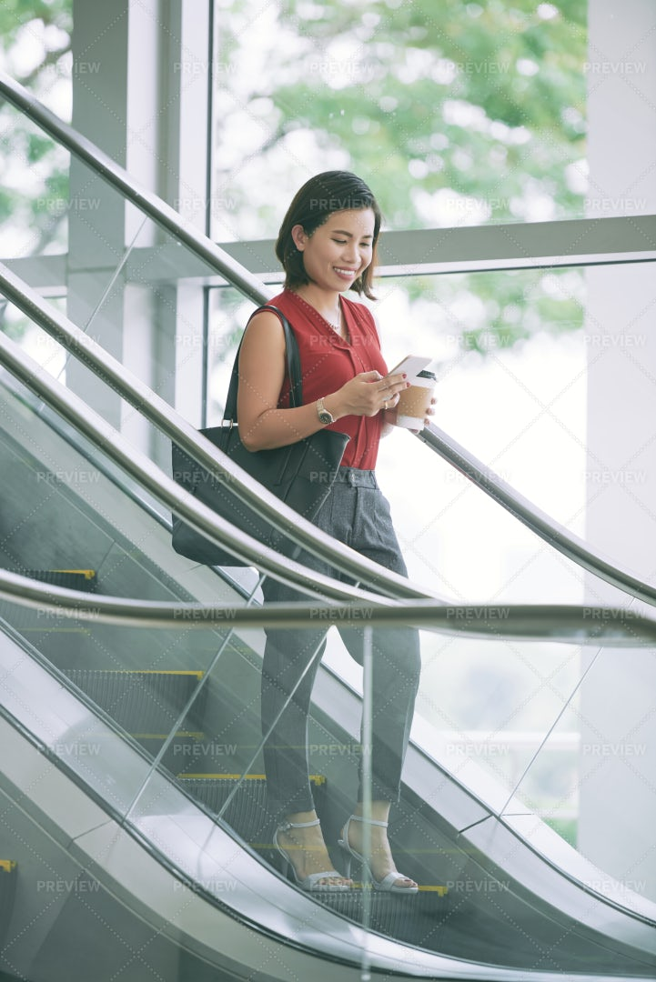 Young Businesswoman In Office Centre: Stock Photos