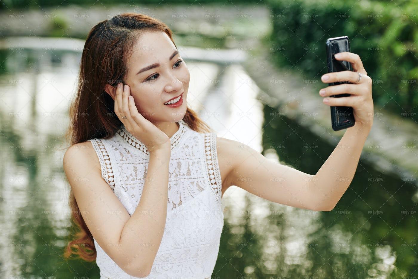 Beautiful Woman Posing For Photo: Stock Photos
