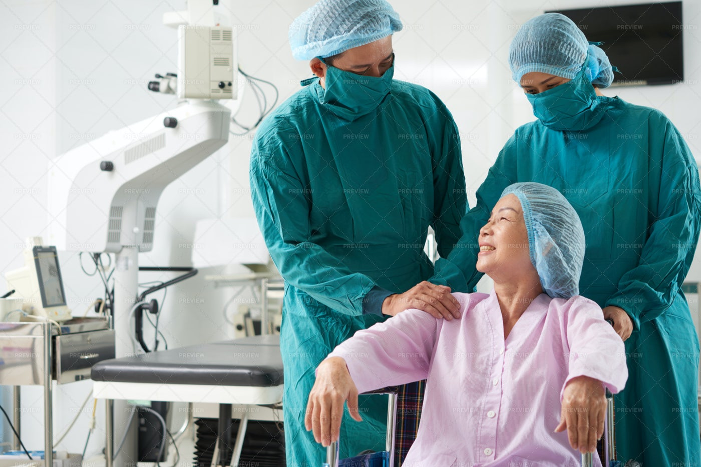 Senior Woman After Operation: Stock Photos