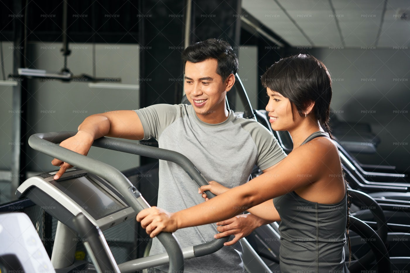 Sports Training With Fitness Instructor: Stock Photos