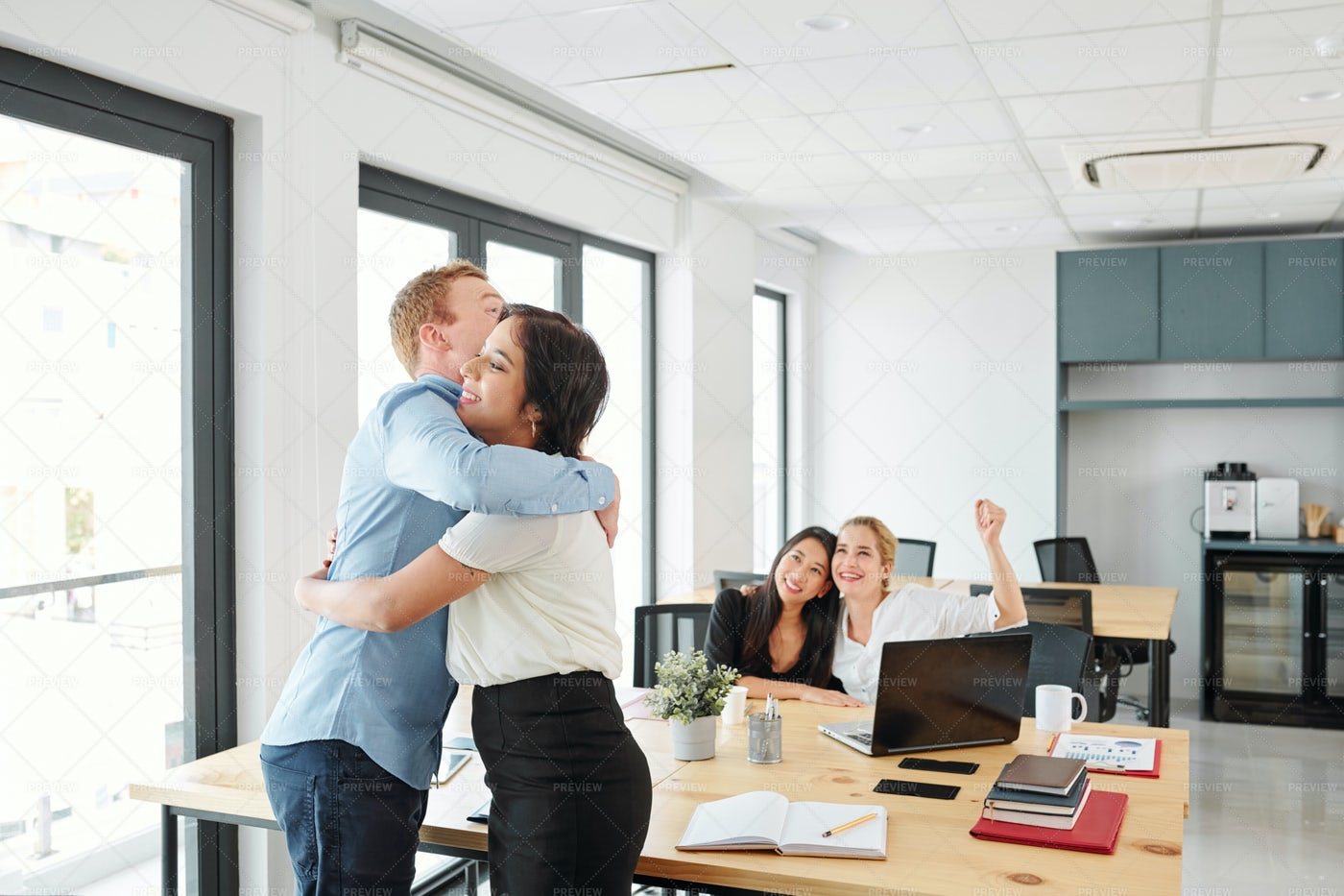 Business Partners Happy Their: Stock Photos