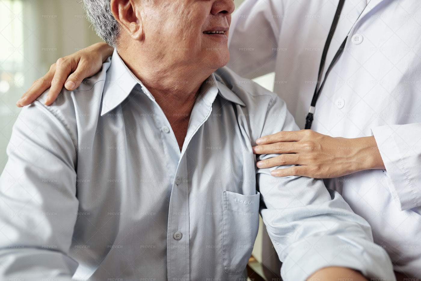 Doctor's Care Of The Patient: Stock Photos