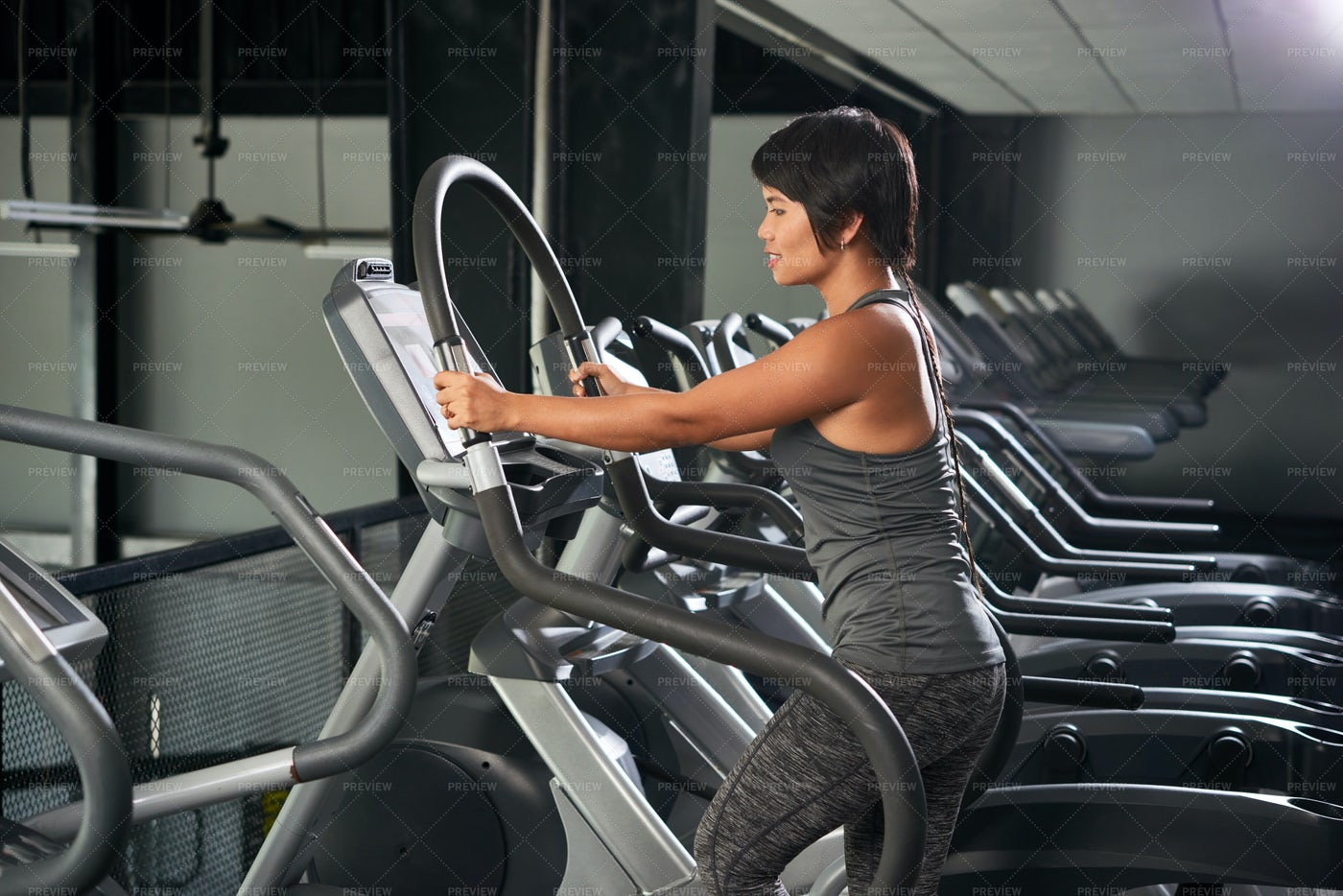 Fitness Woman In Gym: Stock Photos