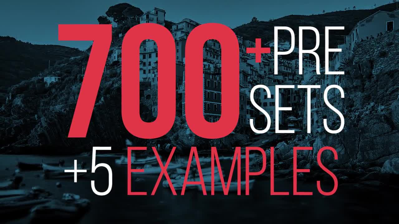 700 Presets Of Nice Transitions - Premiere Pro Presets