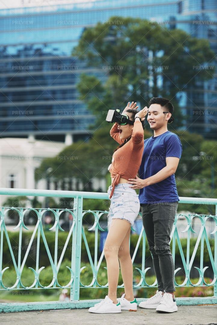 Young Couple Having Fun Outdoors: Stock Photos