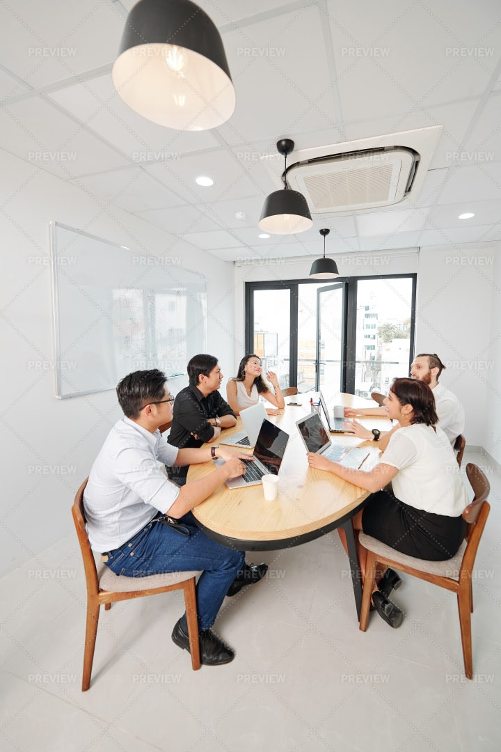 Business Team Working At Board Room: Stock Photos
