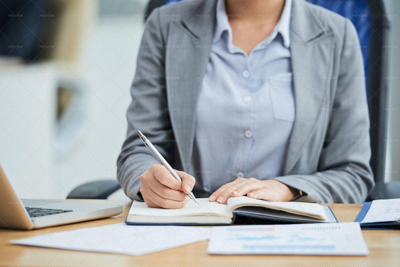 Businesswoman Planning Her Work: Stock Photos