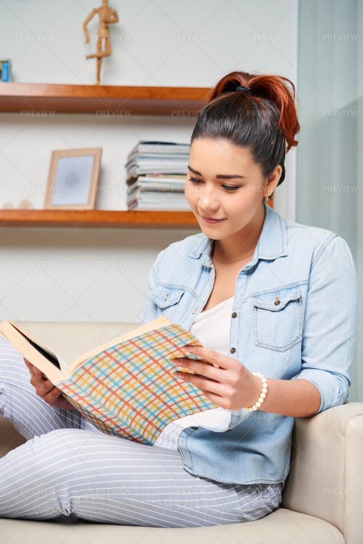 Woman Reading A Book: Stock Photos