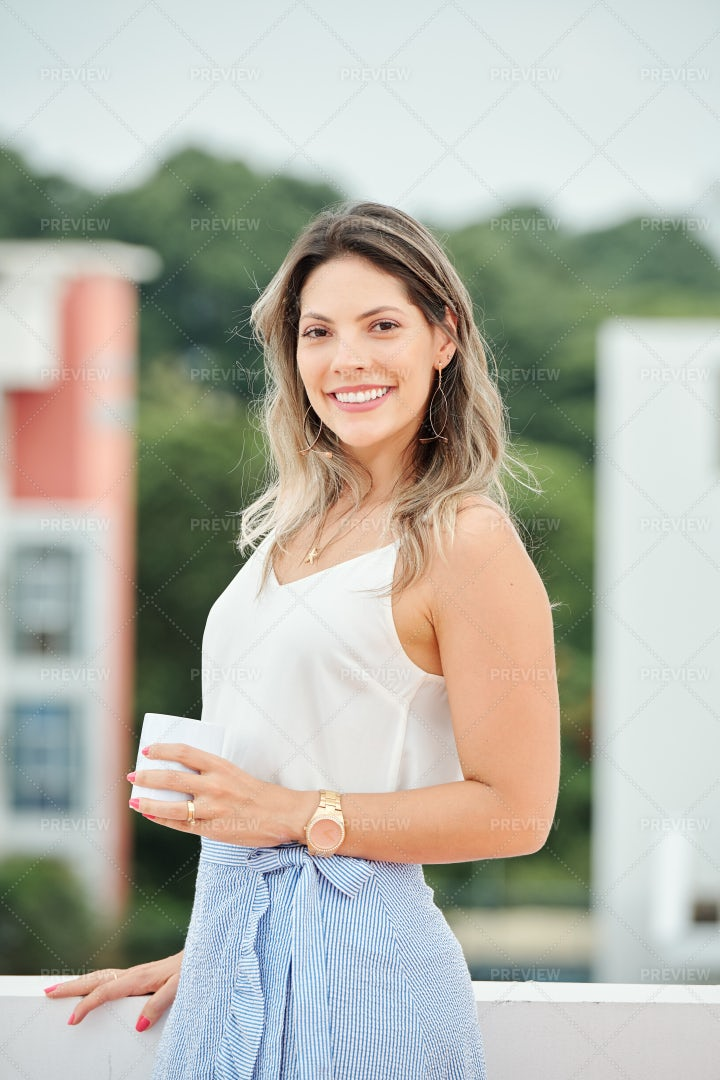 Successful Businesswoman Outdoors: Stock Photos
