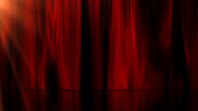 Red Curtain and Stage: Stock Motion Graphics