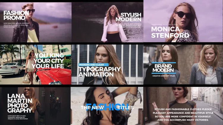 Modern and Fast Titles: Premiere Pro Templates