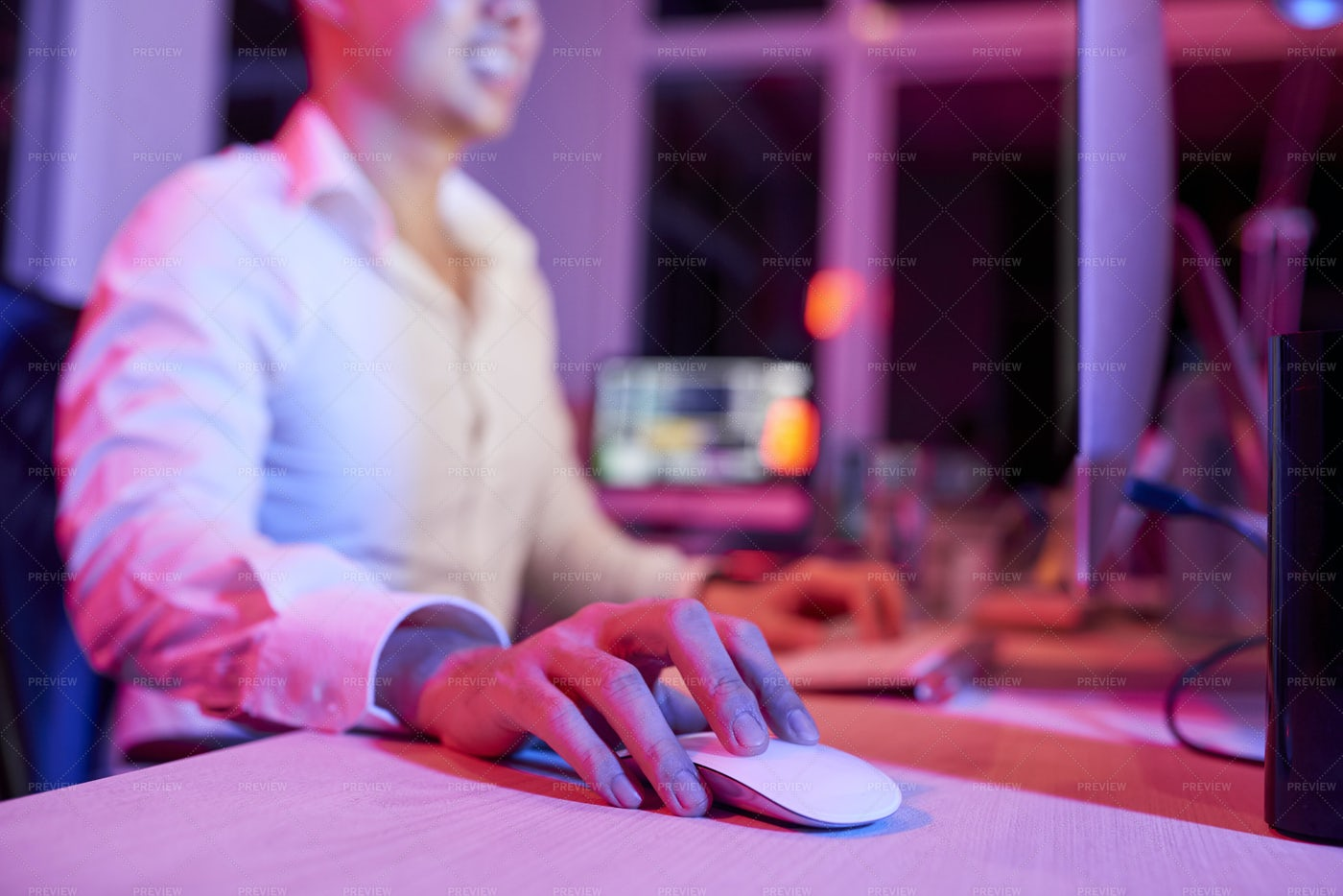 Manager Working On Computer At Office: Stock Photos