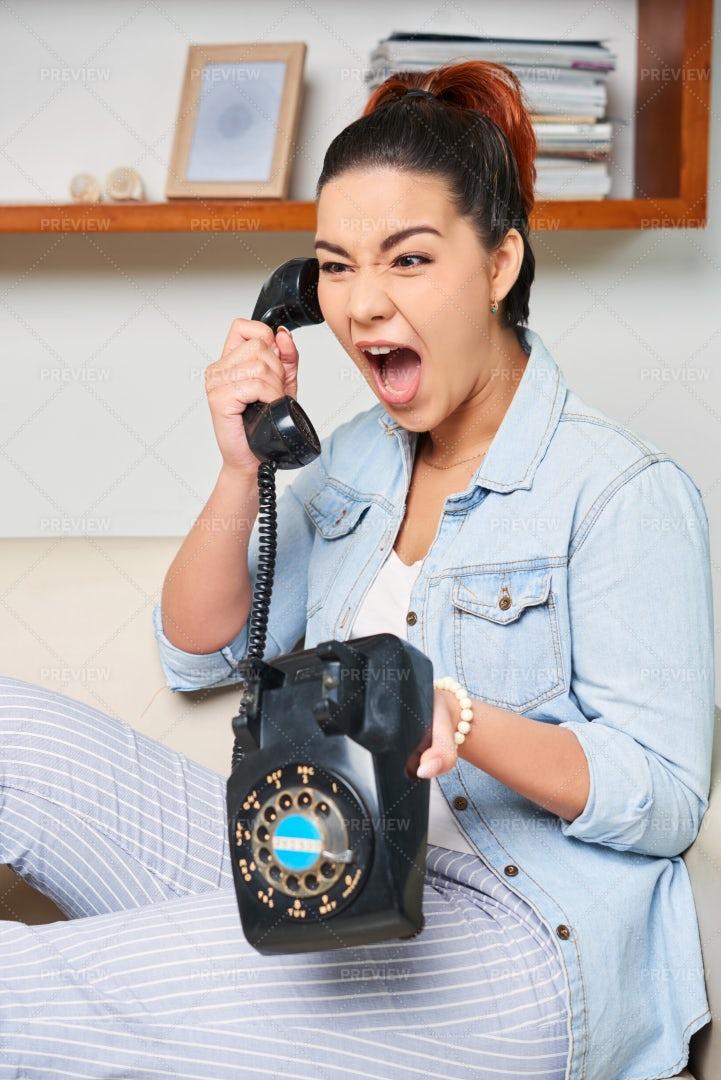 Woman Has An Unpleasant Talk: Stock Photos