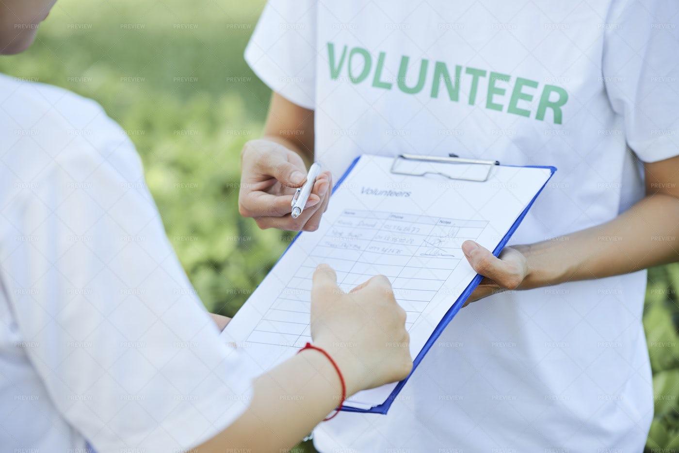 Join The Volunteer Club: Stock Photos
