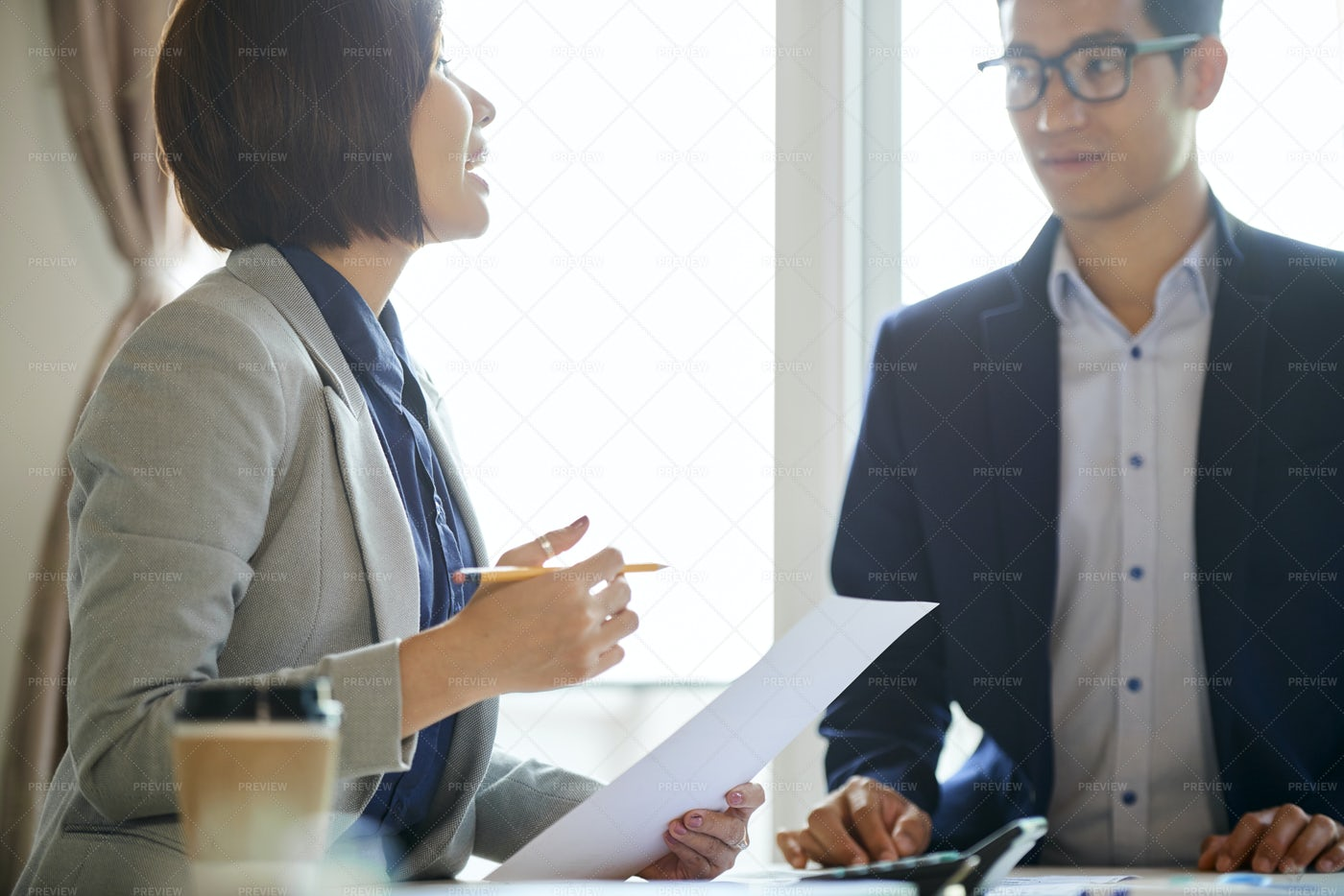 Business People Discussing Work: Stock Photos