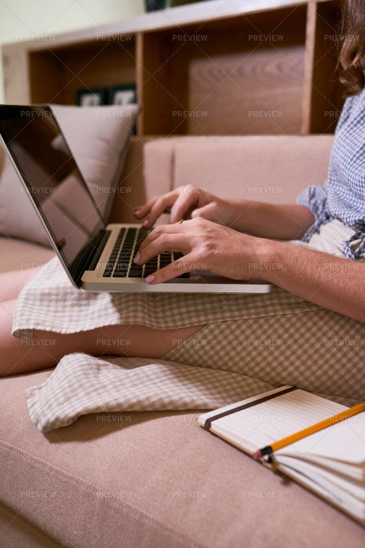 Woman Studying At Home: Stock Photos
