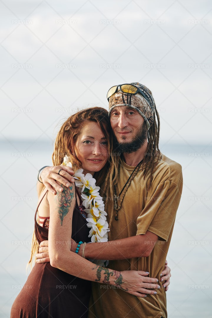 Loving Embracing Couple: Stock Photos