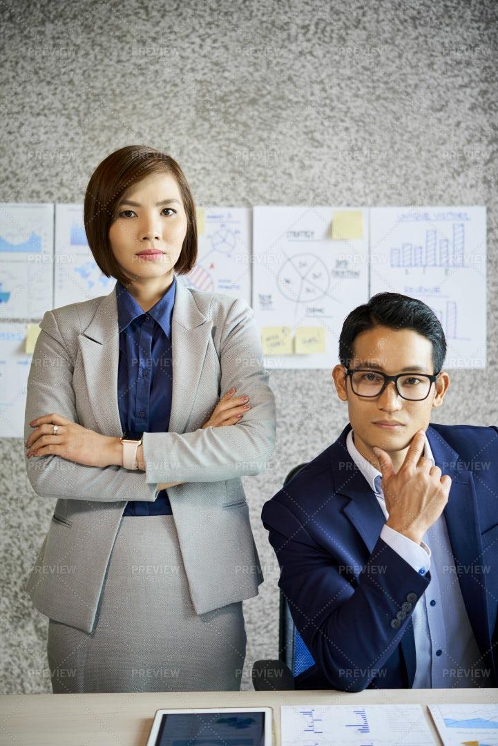Serious Business Executive: Stock Photos