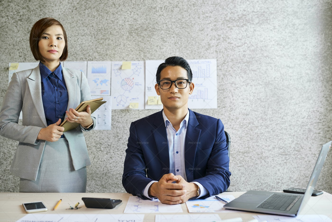 Businessman And Assistant: Stock Photos