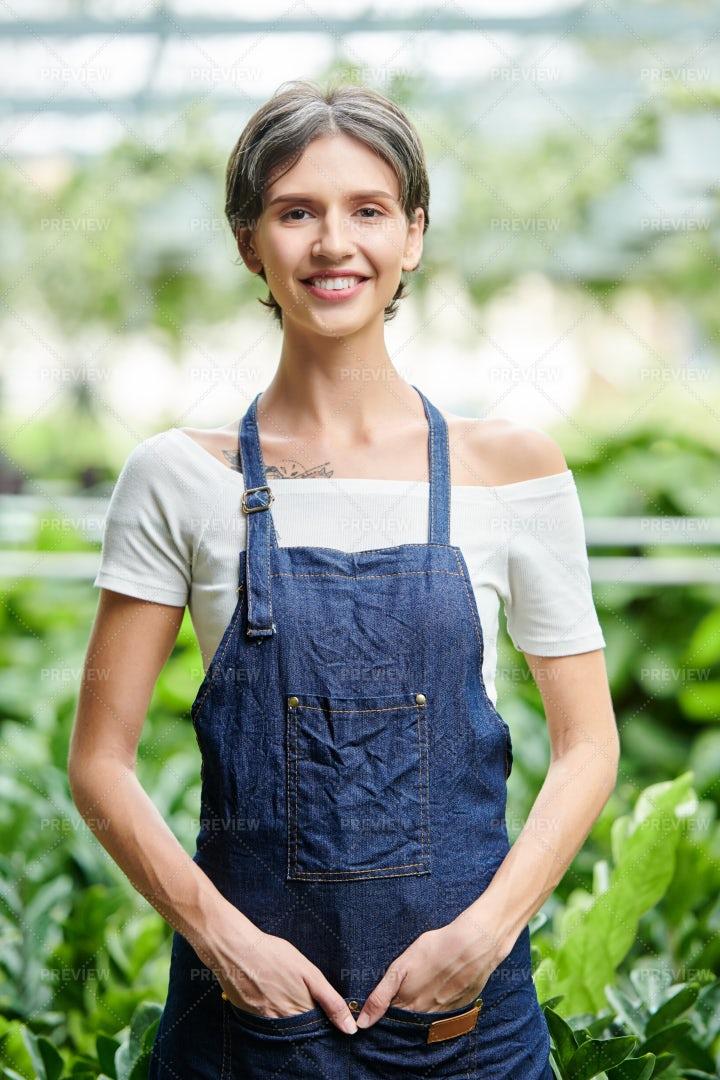 Garden Greenhouse Worker: Stock Photos
