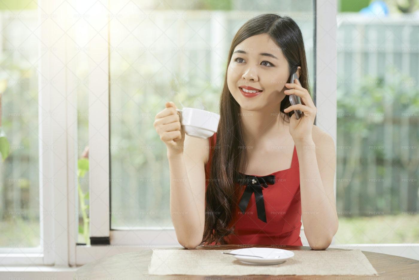 Woman Talking On Mobile Phone: Stock Photos