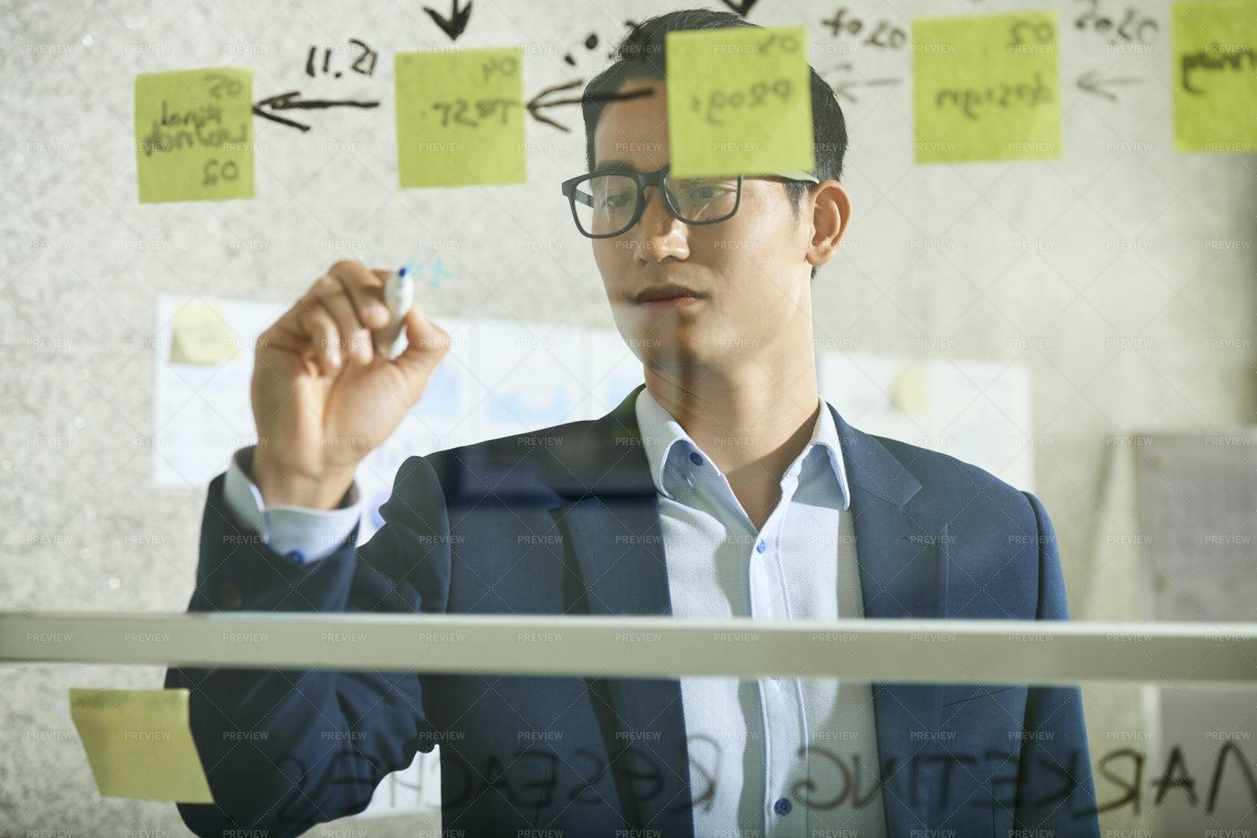 Business Executive Planning Work: Stock Photos