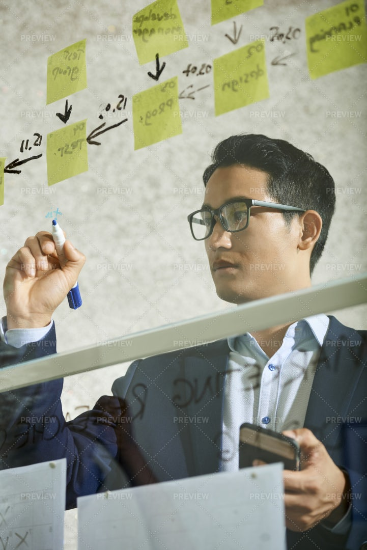 Drawing Steps Of Development: Stock Photos