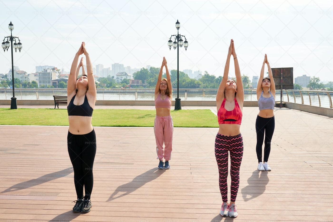 Women Exercising Outdoors: Stock Photos