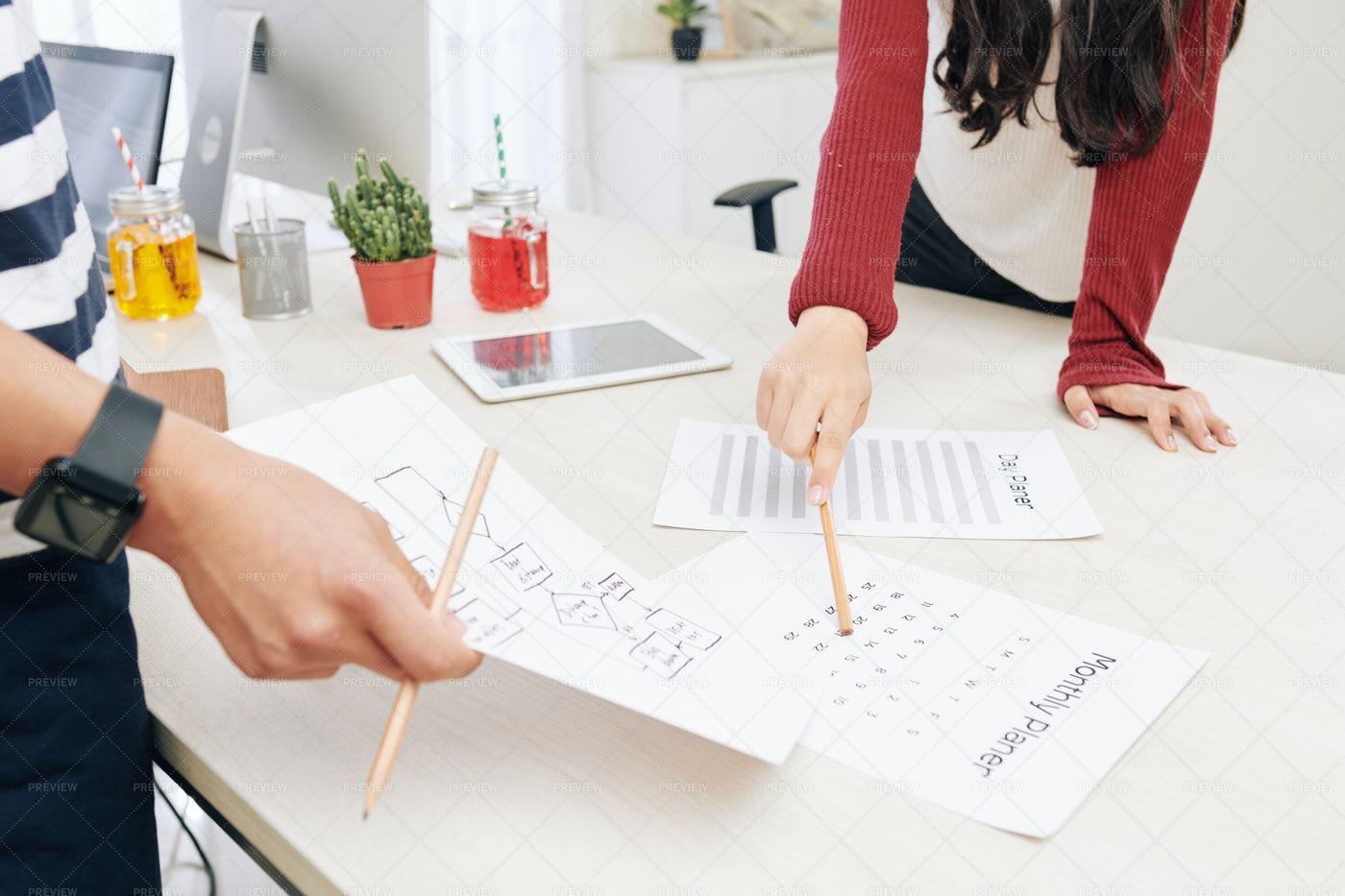 Team Planning Work: Stock Photos