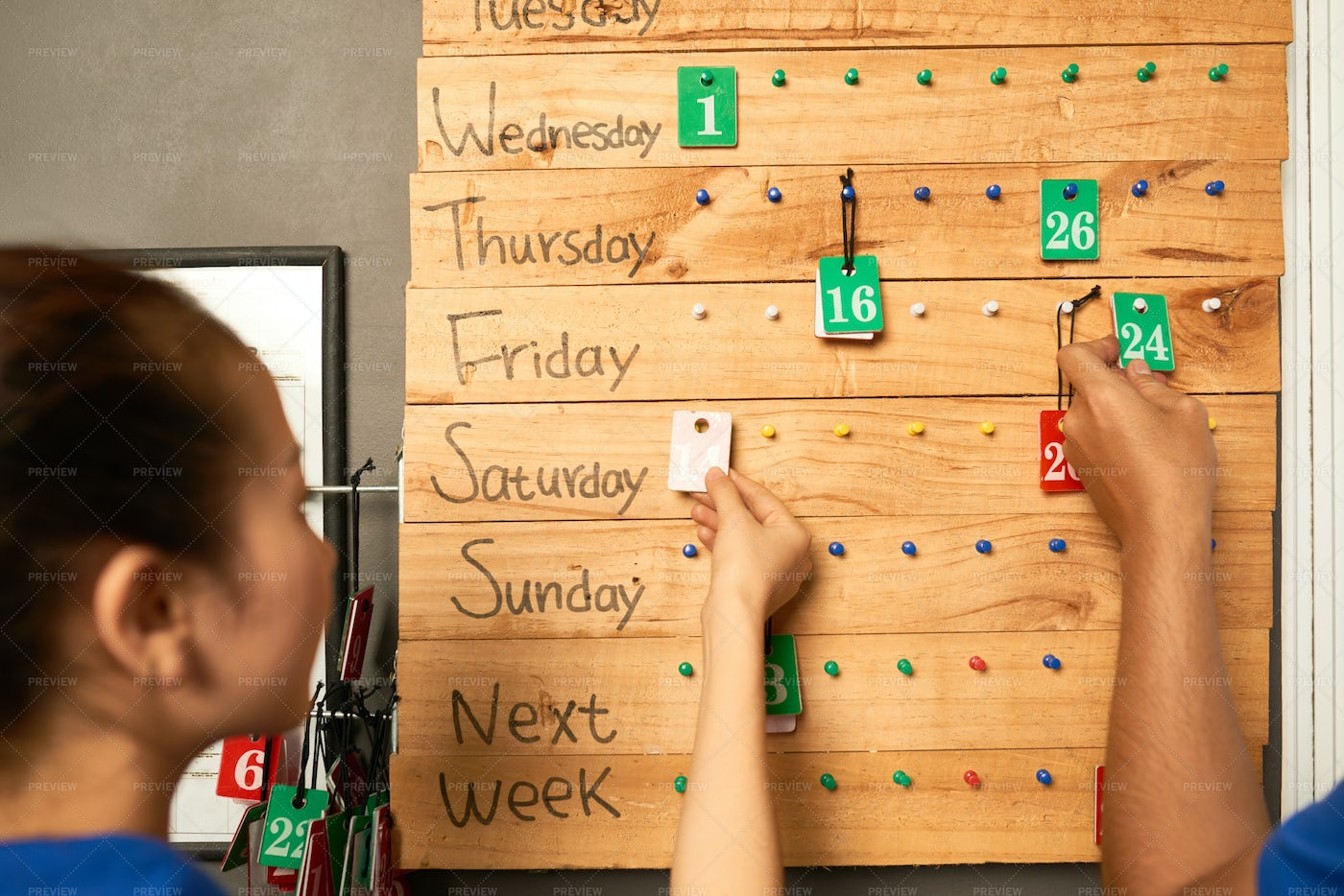 Sales Board In The Store: Stock Photos