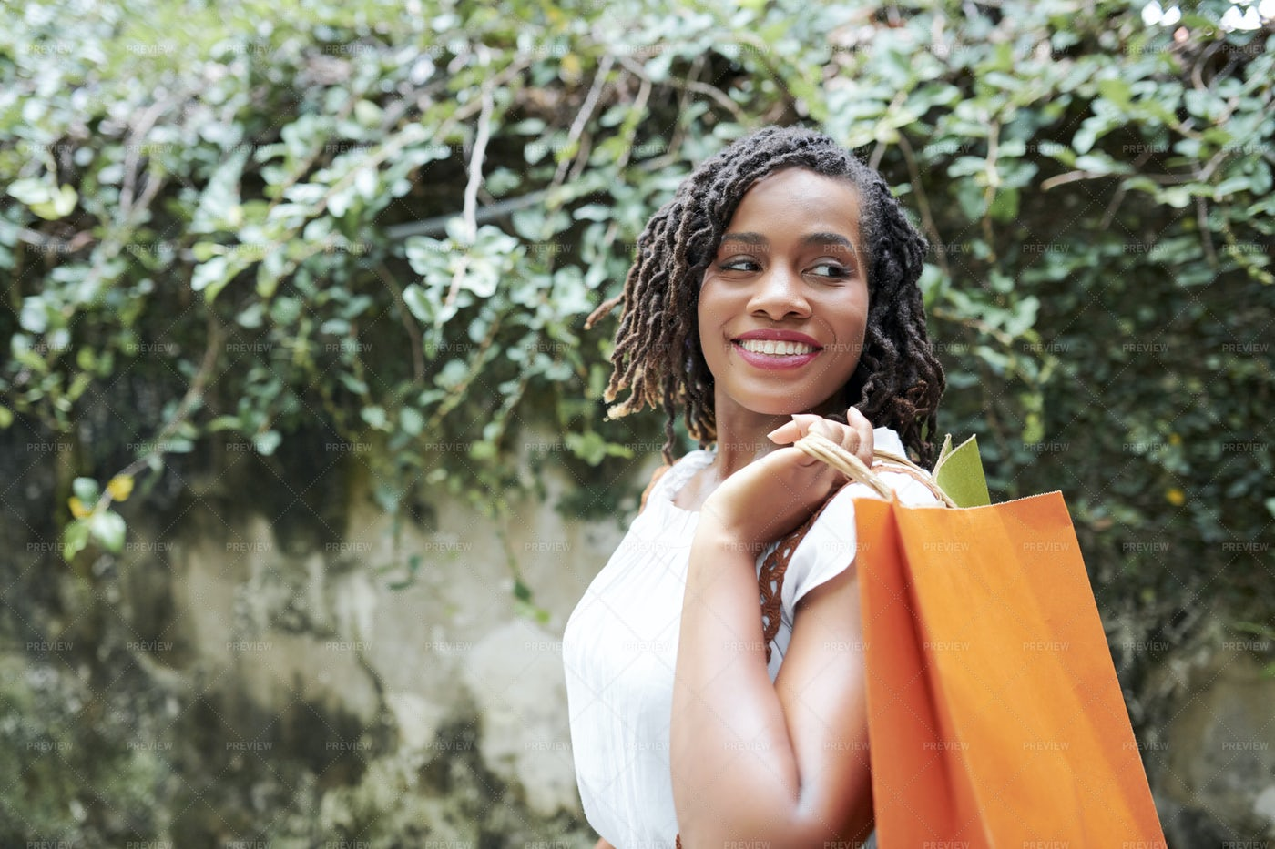 Happy Woman With Shopping Bags: Stock Photos