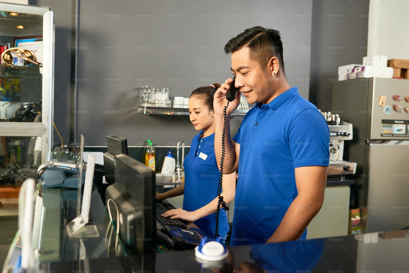 Sellers Working In Store: Stock Photos