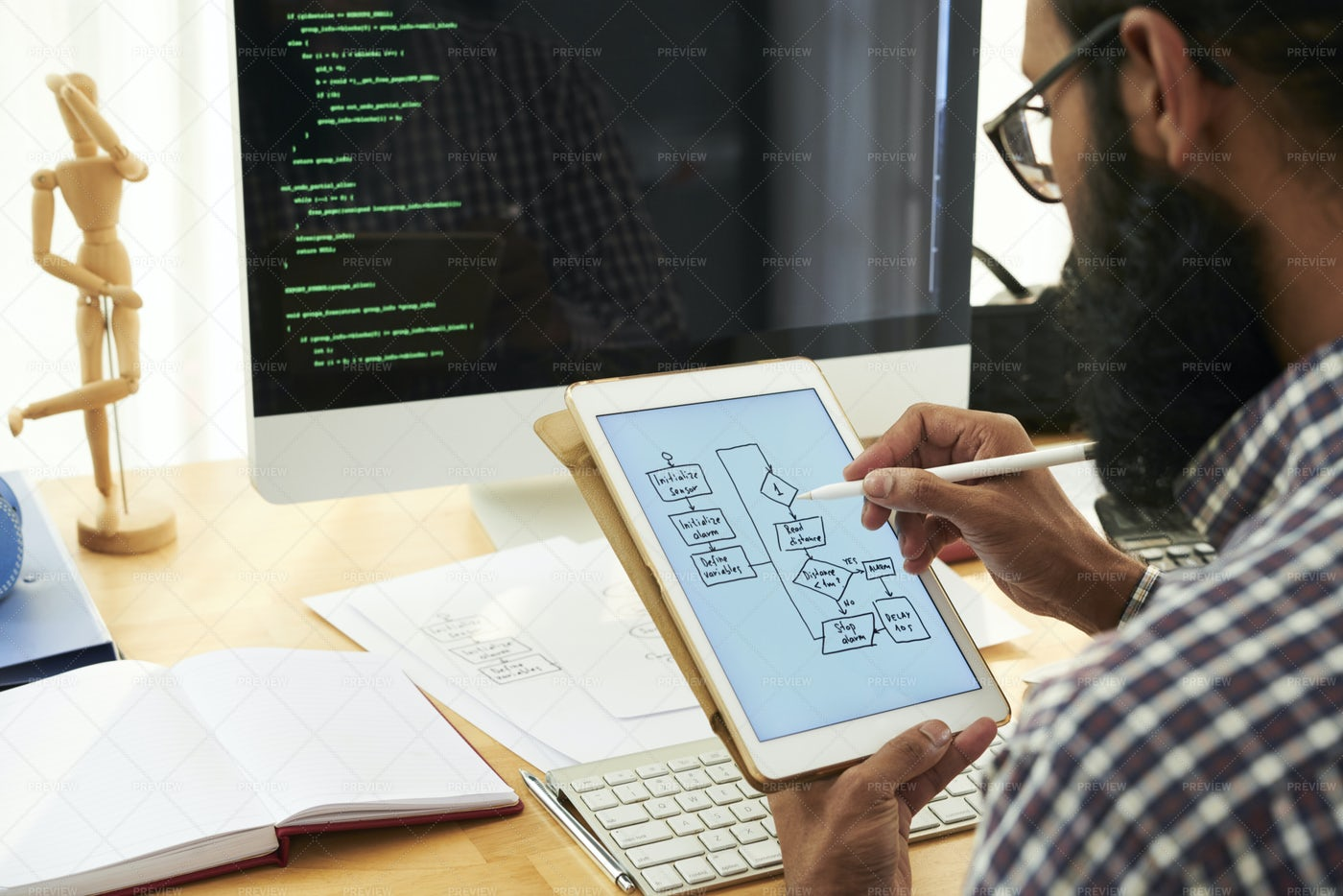 Businessman Drawing Business Strategy: Stock Photos