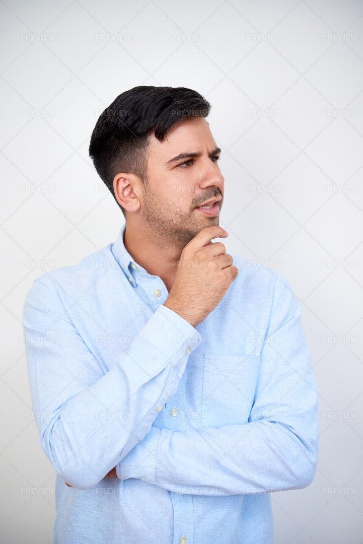 Pensive Young Businessman: Stock Photos