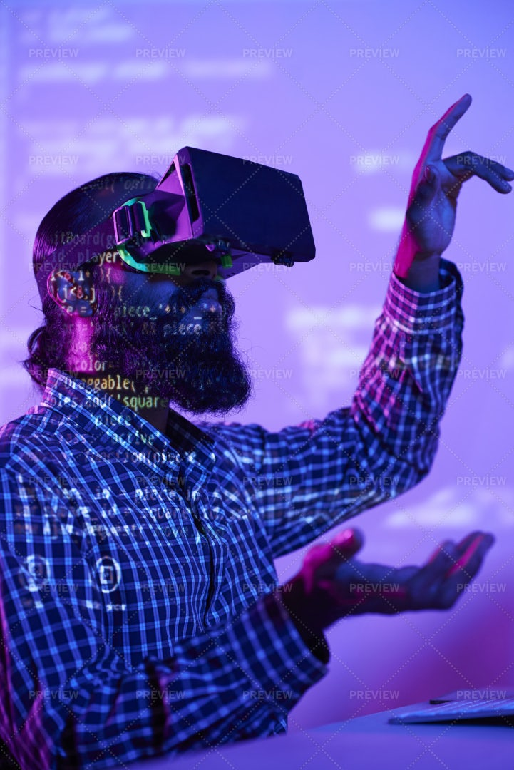 Man Testing The Game: Stock Photos