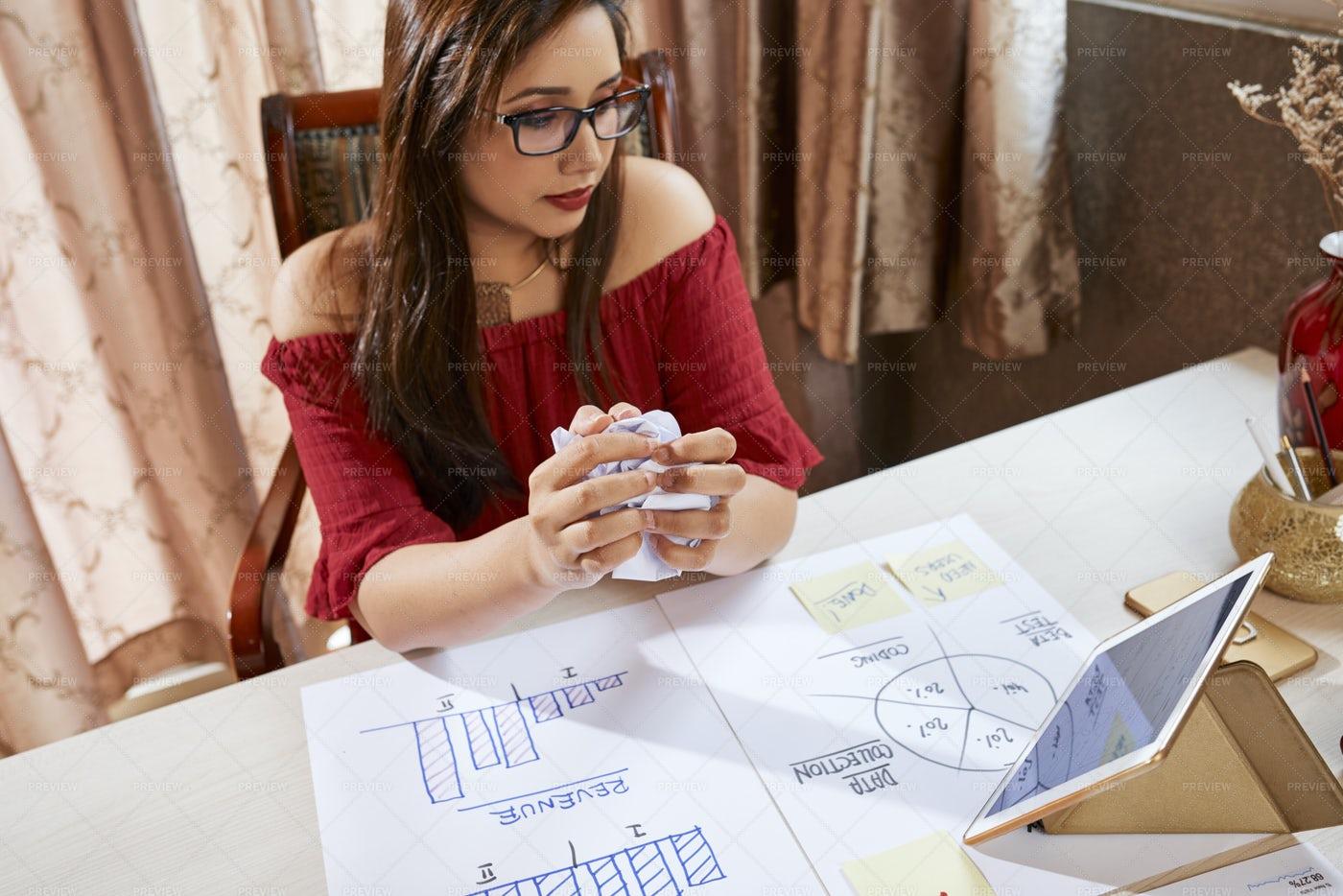 Businesswoman Developing New Business: Stock Photos
